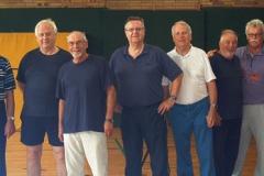 Bild von links Regine, Ferdinand Wibbe Konrad Schüttauf, Joachim Siegert, Horst Heine, Joachim Köhler, Jürgen Brümmer, Roland Heine, Horst Opdenhövel